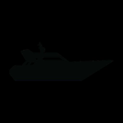 Silueta de barco yate Transparent PNG