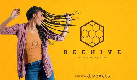 Diseño de camiseta de colmena