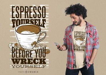 Espresso mismo diseño de camiseta