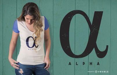 Diseño de camiseta alfa
