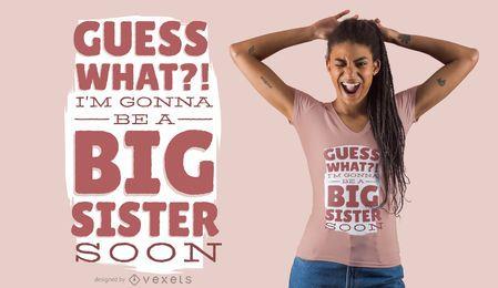 Design de t-shirt da irmã mais velha