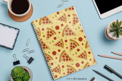 Seamless Pizza Pattern Design