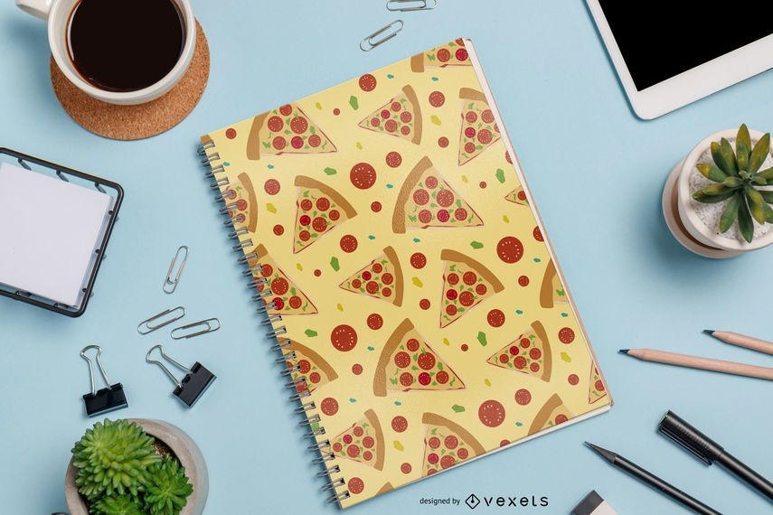 Nahtloses Pizza-Muster-Design