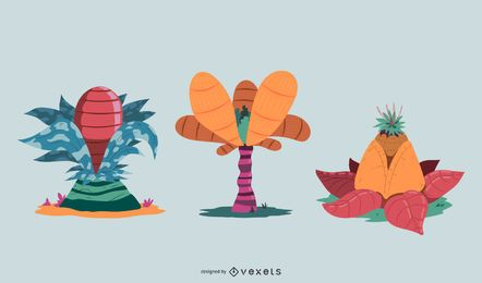 Design de vetor de plantas de fantasia