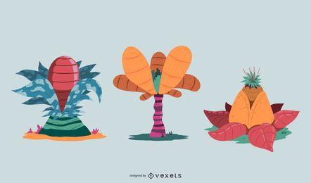 Diseño de vectores de plantas de fantasía