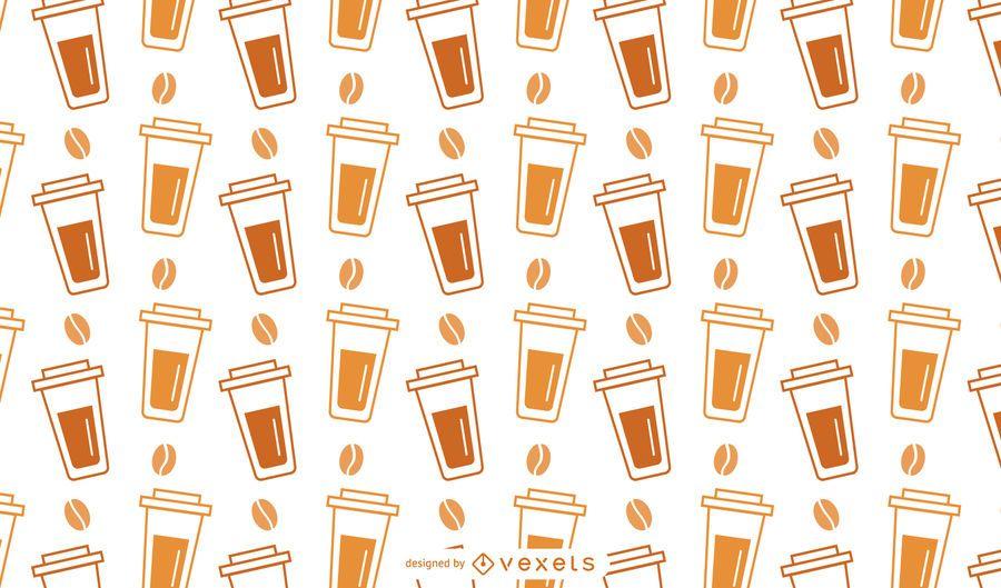 Patrón de taza de café de plástico