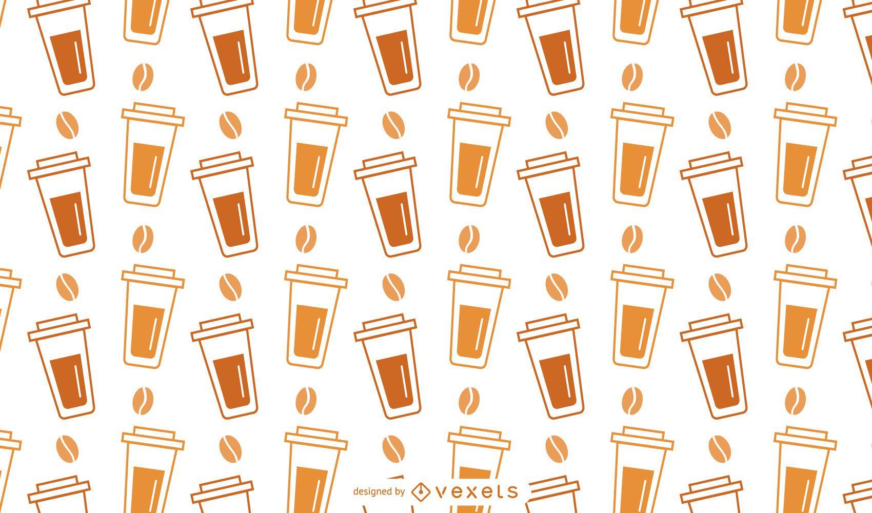 Padrão de xícara de café de plástico