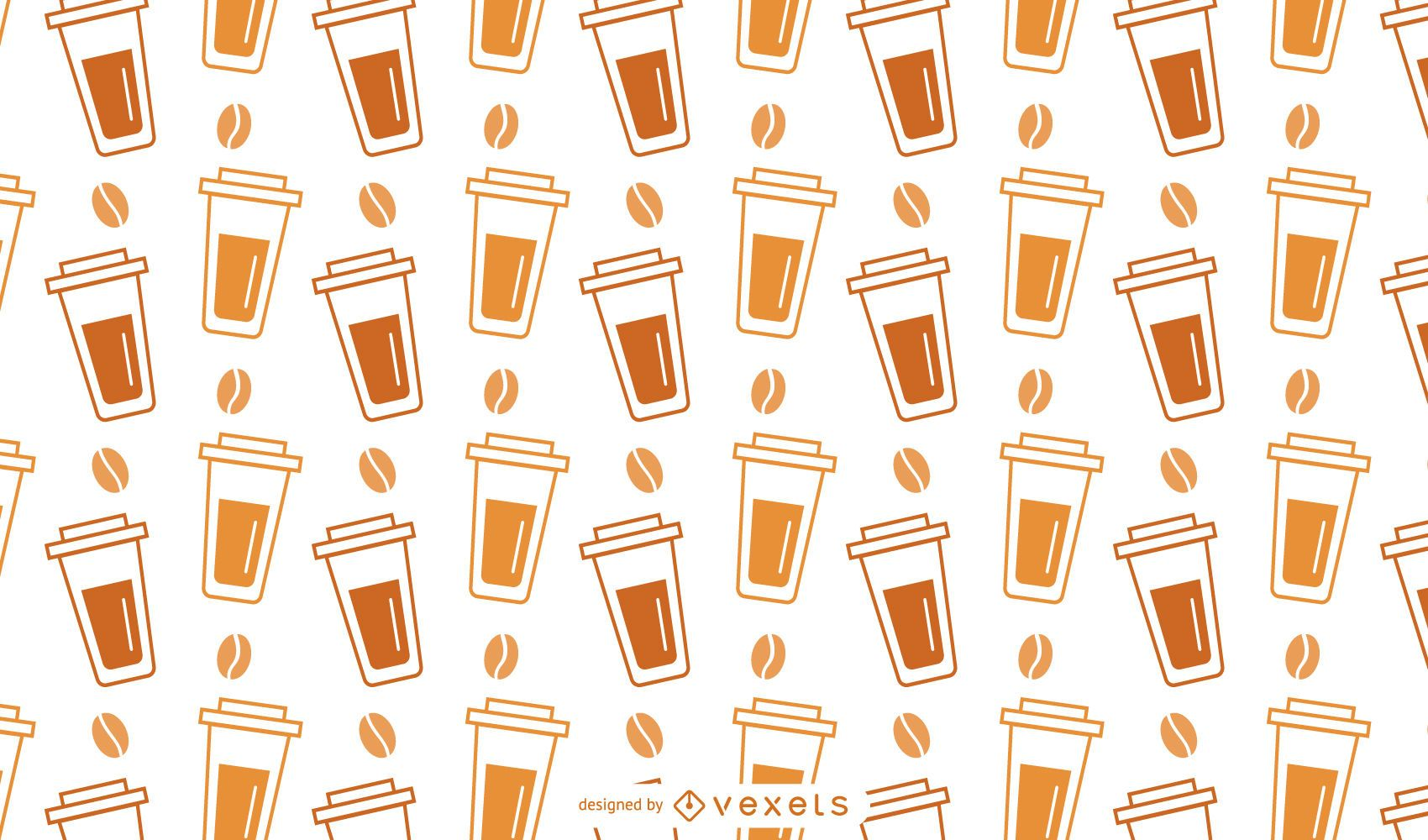 Plastic Coffee Cup Pattern