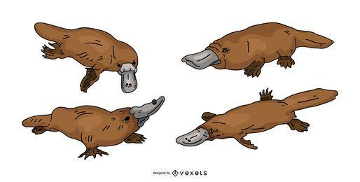 Platypus Colored Vector Design