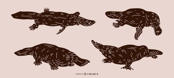 Platypus Detailed Silhouette Design