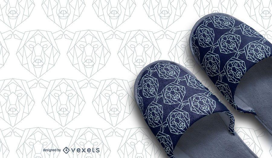 Diseño de patrón de oso poligonal