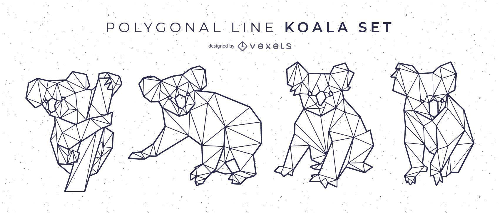 Conjunto Koala L?nea Poligonal