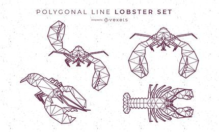 Polygonal Line Lobster Set