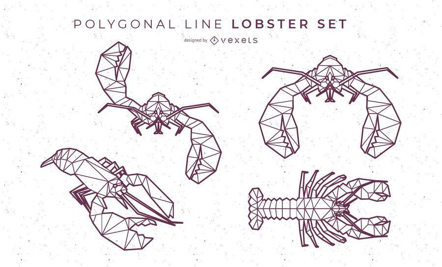 Polygonal Line Lobster Set