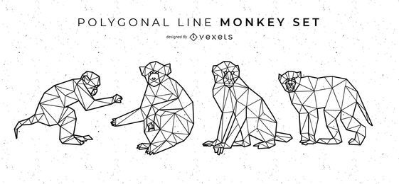 Polygonal Line Monkey Set