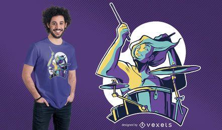 Diseño de la camiseta del baterista