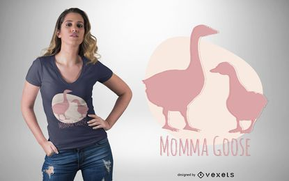 Projeto do t-shirt do ganso de Momma