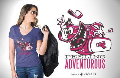 Sensación de diseño de camiseta aventurero.
