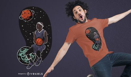 Outta Space Basketballer T-shirt Design