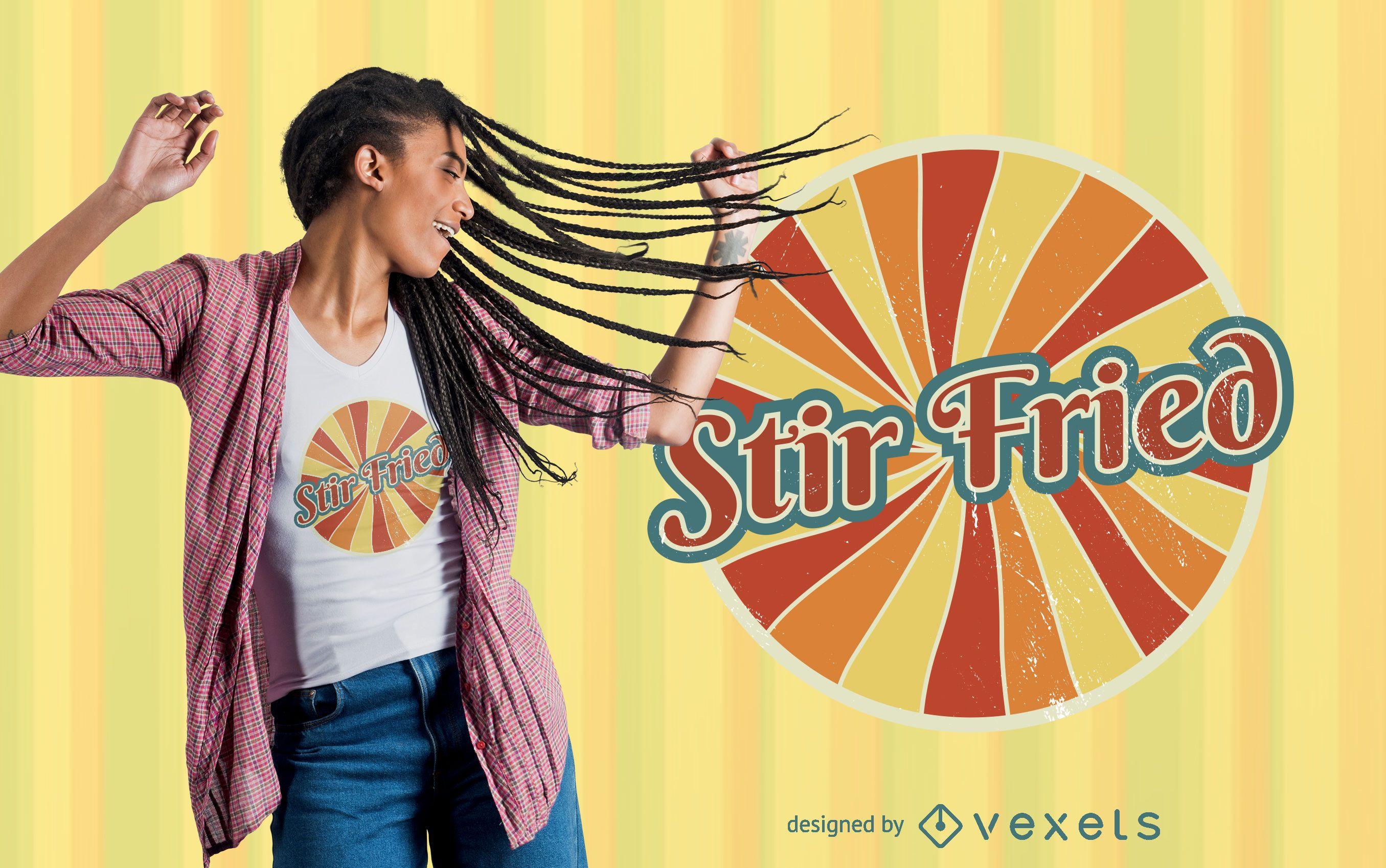 Diseño de camiseta Stir Fried
