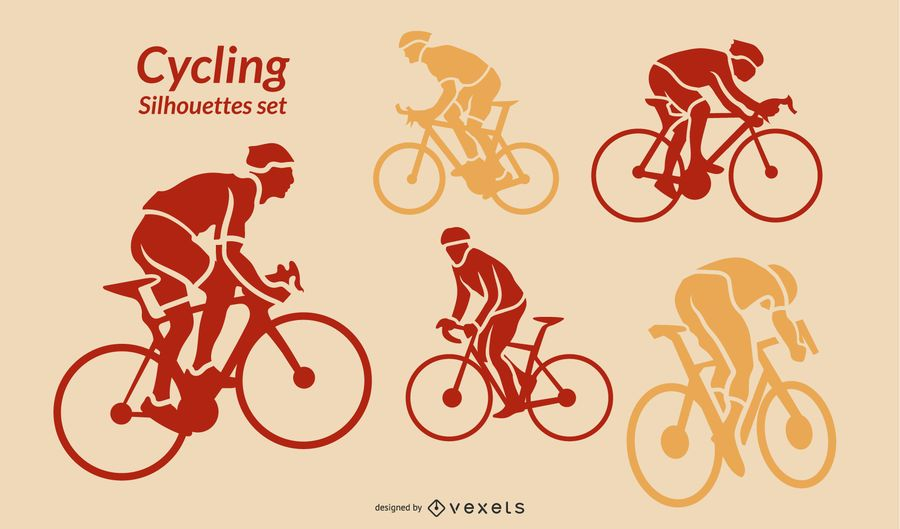 Cycling silhouettes set