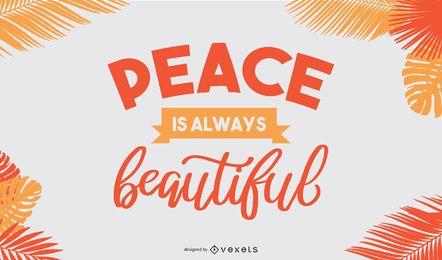 Belo desenho de banner de paz