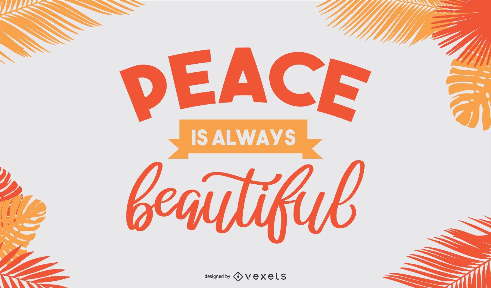 Beautiful peace banner design