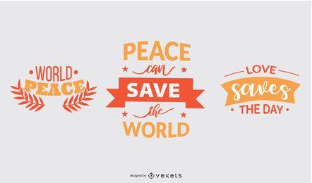 La paz salva el conjunto de letras
