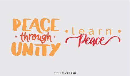 Conjunto de letras do dia da paz