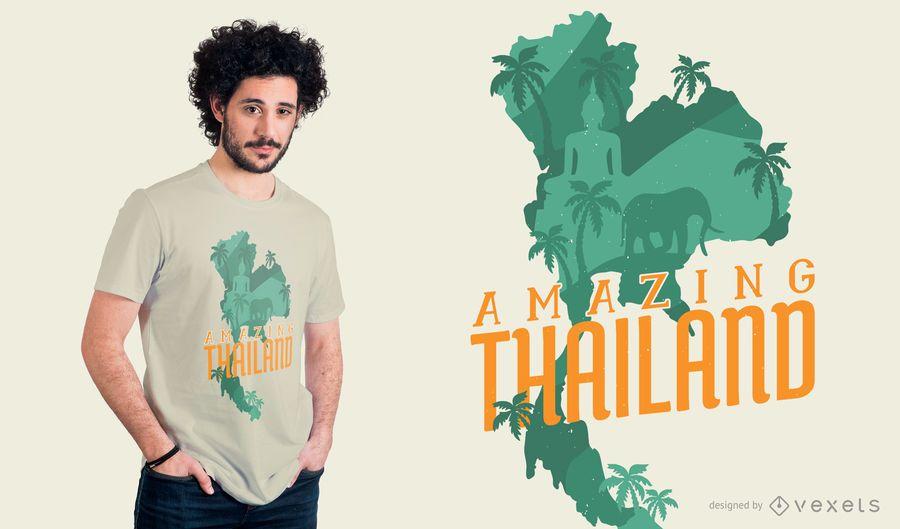 Design surpreendente do t-shirt de Tailândia