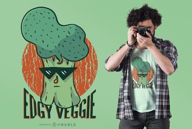 Projeto nervoso do t-shirt do vegetariano
