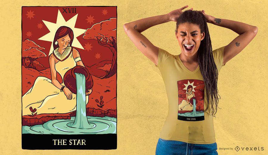 Star Tarot Card T-shirt Design