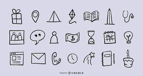 Pacote de ícones mistos