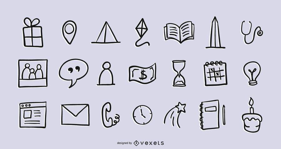 Paquete de iconos mixtos