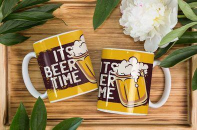Tazas del tiempo de la cerveza