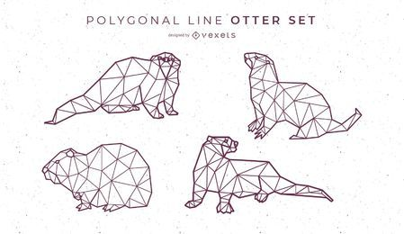 Diseño de nutria de línea poligonal
