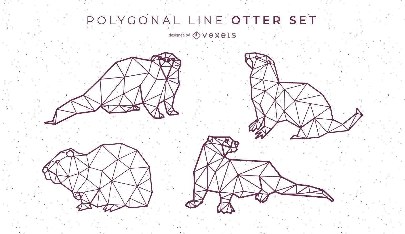Polygonal Line Otter Design