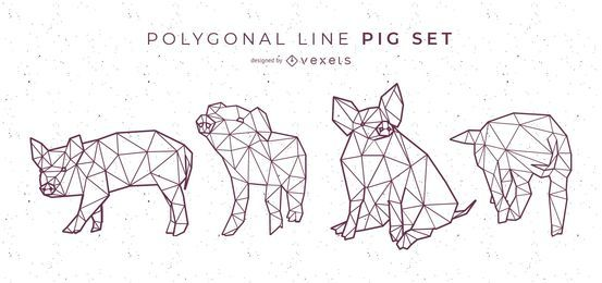 Polygonal Line Pig Set