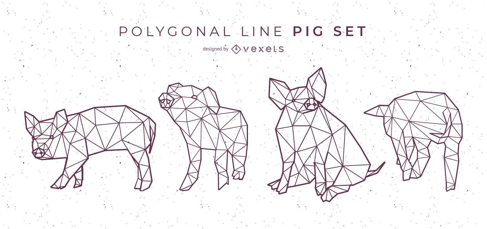 Polygonal Line Pig Set