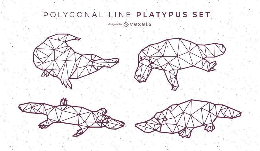 Polygonal Line Platypus Design