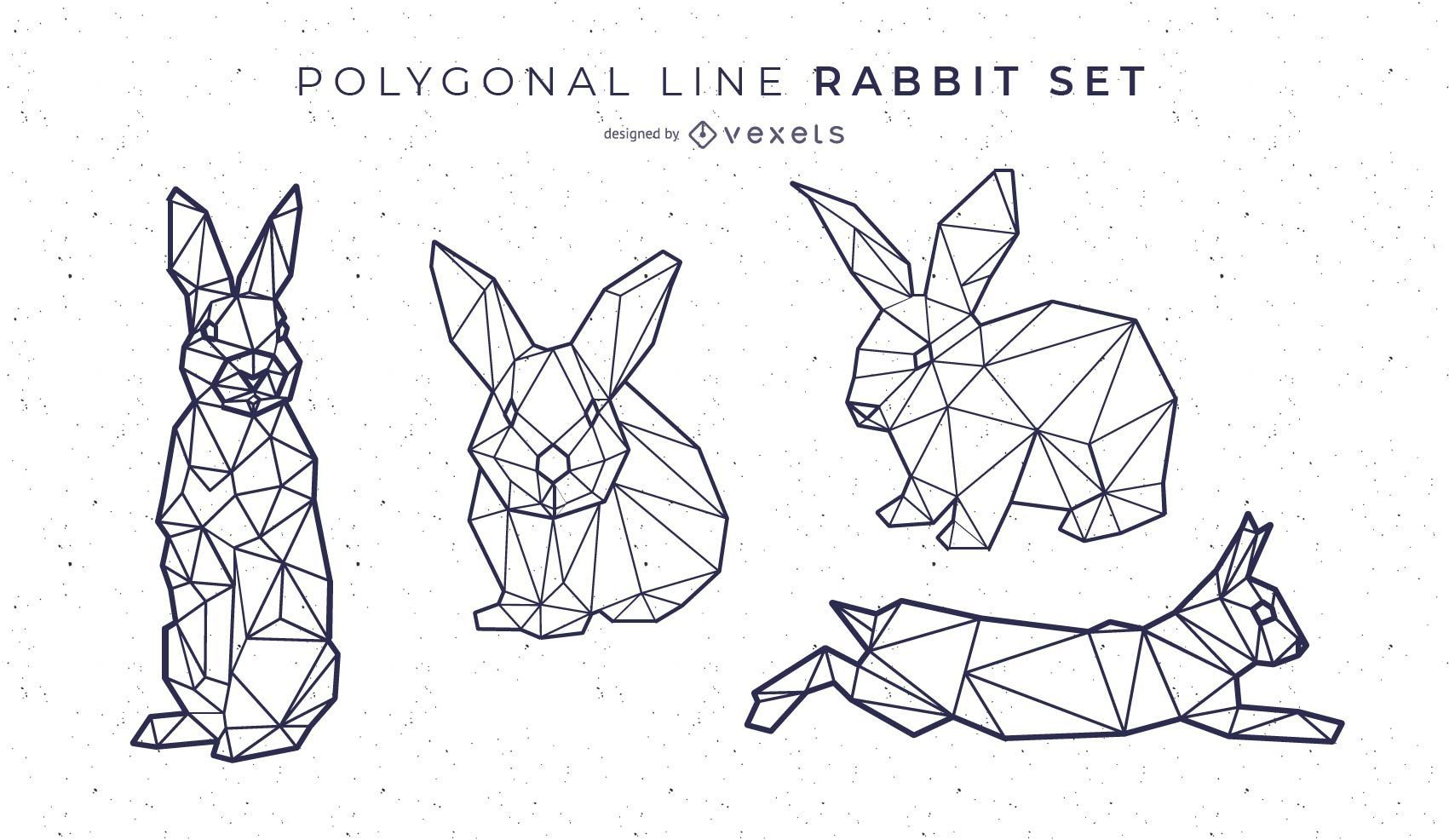 Polygonal Line Rabbit Set