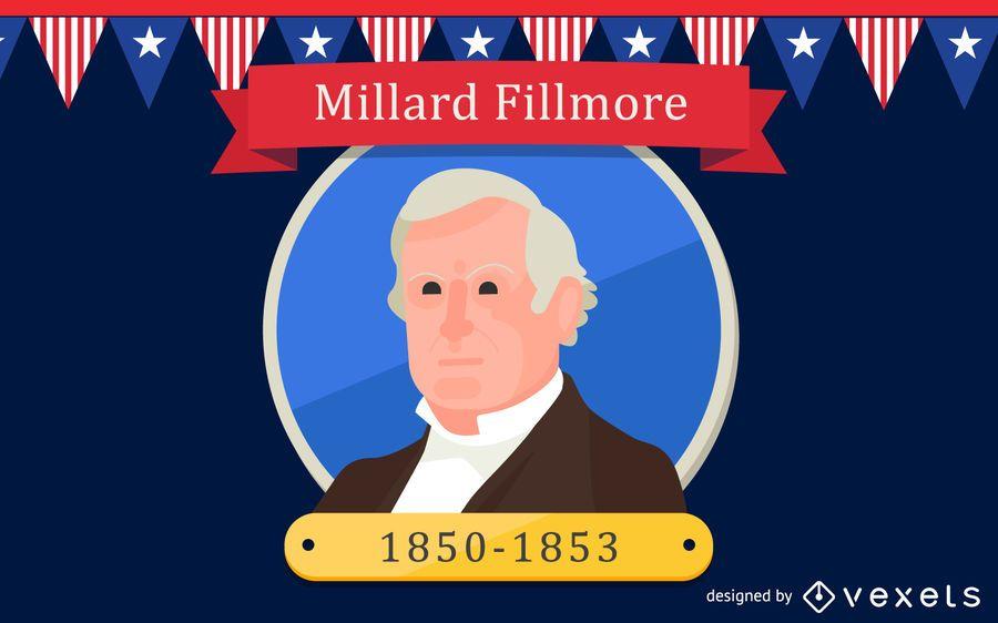 Millard Fillmore Cartoon Illustration