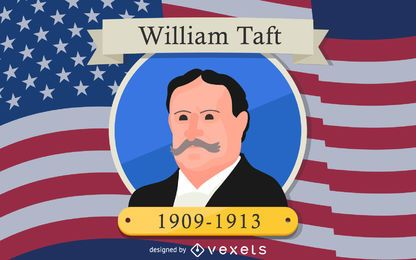 William Taft Cartoon Illustration Design