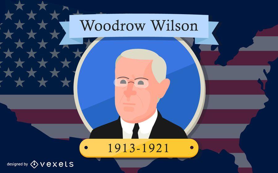 President Woodrow Wilson Cartoon Design