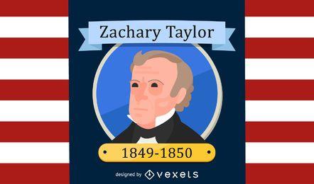 Projeto da ilustração dos desenhos animados de Zachary Taylor