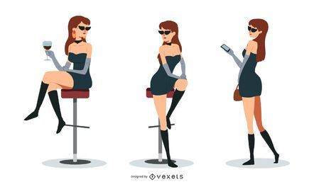 Pretty Woman Vector Set