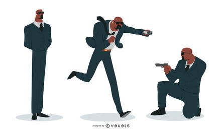 Security Man Vector Set