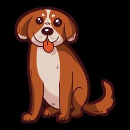 Dibujo lindo perro