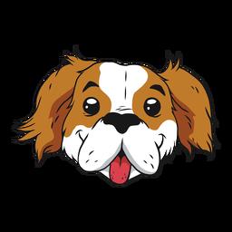 Lindo perro sonriendo