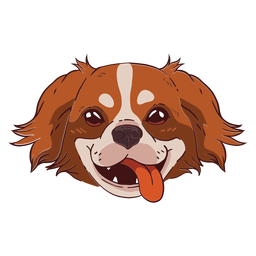 Cute dog smiling illustration
